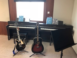 Setting up the Music room